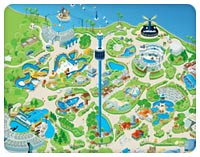 seaworld park map and parking info